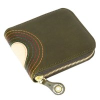 MAGIC THEATER RAINBOW 22°HALO 14 ZIP SLIM PURSE (MOSS GREEN)