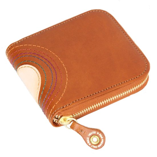 MAGIC THEATER RAINBOW 22°HALO 14 ZIP SLIM PURSE (BROWN)