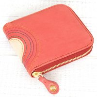 MAGIC THEATER RAINBOW 22°HALO 14 ZIP SLIM PURSE (ROSE PINK)