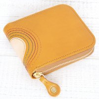 MAGIC THEATER RAINBOW 22°HALO 14 ZIP SLIM PURSE (MUSTARD)