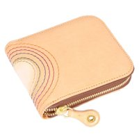 MAGIC THEATER RAINBOW 22°HALO 14 ZIP SLIM PURSE (NATURAL)