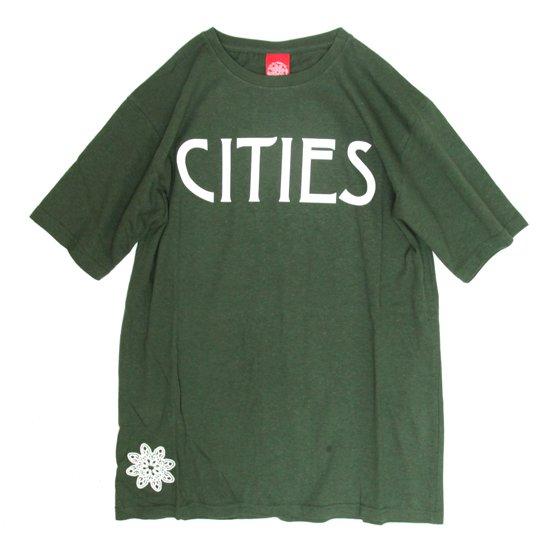 THC CITIES TEE (C.GREEN)