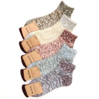 RoToTo MIXED SLAB RIB SHORT SOCKS