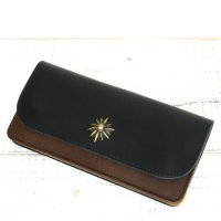 KUBIKI LEATHER LONG WALLET (NAVY)