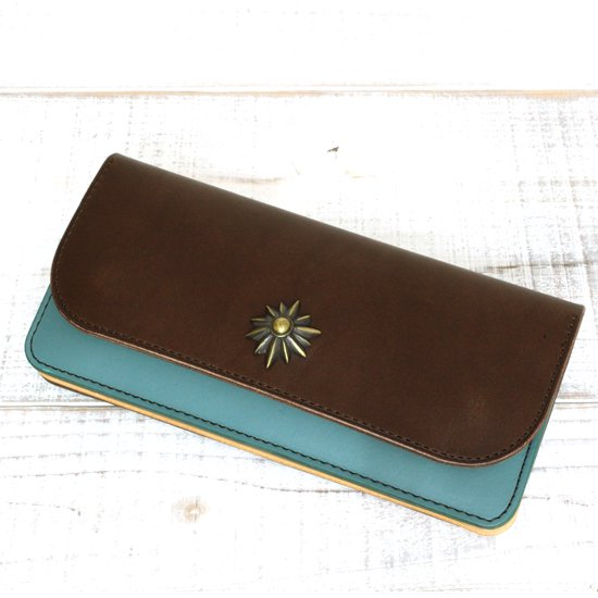KUBIKI LEATHER LONG WALLET (BROWN)