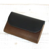 KUBIKI LEATHER MIDDLE WALLET (NAVY)