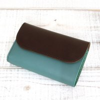 KUBIKI LEATHER MIDDLE WALLET (BROWN)