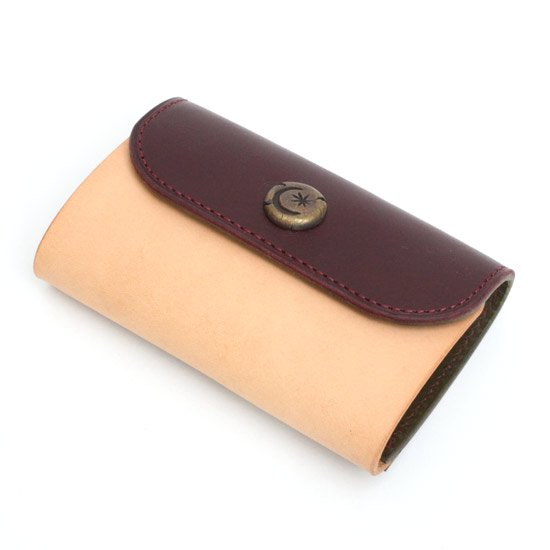 KUBIKI LEATHER KEY CASE (BURGUNDY)