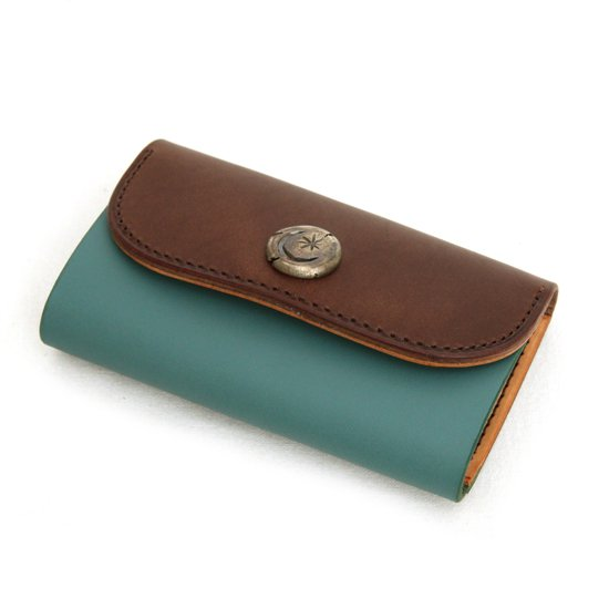 KUBIKI LEATHER KEY CASE (BROWN)