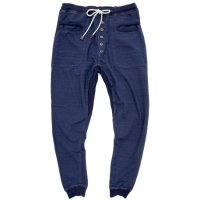 rulezpeeps レディース INDIGO URAKE PANTS (ONE WASH)