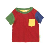 GO HEMP Kodomo BABY PK TEE COMBI (TRUE RED)