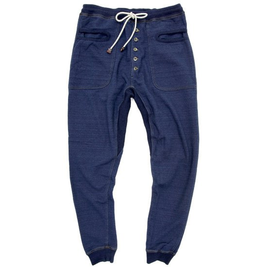 rulezpeeps INDIGO URAKE PANTS
