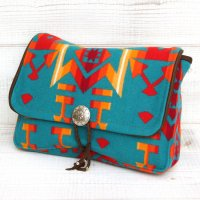 Early Morning CONCHO CLUTCH (CONDENSED TURQUOISE)