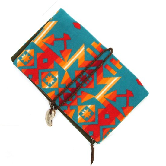 Early Morning PENDLETON CLUTCH (CONDENSED TURQUOISE)