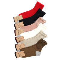RoToTo LINEN COTTON LOOSE RIB SOCKS SHORT
