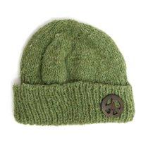 GO HEMP PEACE WATCH CAP (GREEN2)