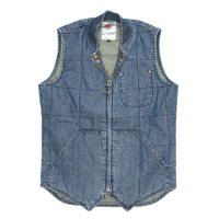 Nasngwam LATTICE QUILT WESTERN VEST (USED WASH)