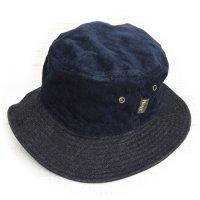 Phatee BUCKET HAT (NAVY CORD/INDIGO DENIM)