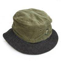 Phatee BUCKET HAT (OLIVE CORD/BLACK DENIM)