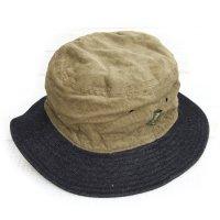 Phatee BUCKET HAT (BEIGE CORD/INDIGO DENIM)