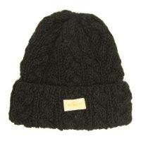 GO WEST ALAN CABLE WATCH CAP (BLACK)