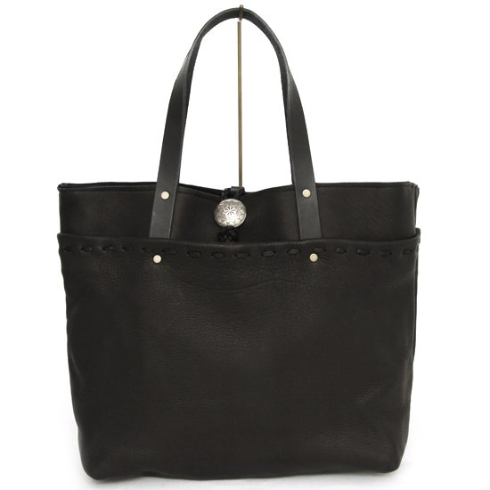 Early Morning ALL DEER POCKET TOTE (BLACK)