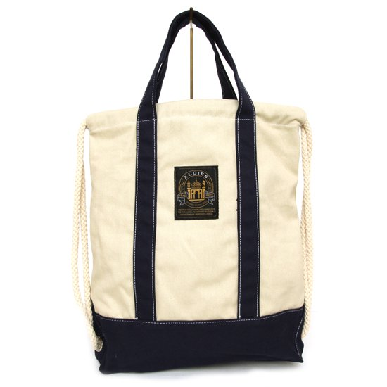 ALDIES Flossie Knapsack (NATURAL×NAVY)