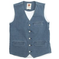 Nasngwam CALM VEST DENIM (USED WASH)