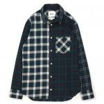UNTOLD *PATTERN MIX FLANNEL TARTANCHECK SHIRT
