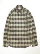 Scye Basics オックスフォードチェックB.Dシャツ(オリーブ)【メンズ】