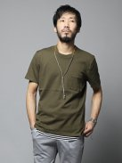 CURLY BRIGHT S/S POCKET TEE(オリーブ)