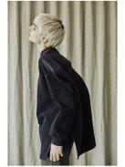 Scye ナイロンウールパイル プルオーバー(ネイビー)【ウィメンズ】