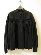 Scye リネン高密度タックシャツ(ブラック)【ウィメンズ】