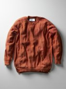 CURLY ASSEMBLY CREW KNIT(オレンジ)