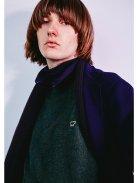 Scye Basics シェットランドウールセーター(モスグリーン)【メンズ】