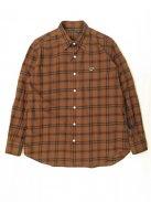 Scye Basics オリジナルチェック レギュラーフィットシャツ(ブリック)【メンズ】