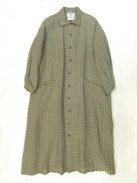 YAECA WRITE ワークシャツドレス(ブラウンチェック)