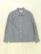 YAECA WRITE ボタンシャツ‐ショート‐(グリーンチェック)