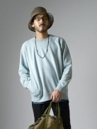 CURLY FROSTED CREW SWEAT(ライトブルー)