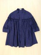 Scye リネン高密度タックシャツ-半袖-(ネイビー)【ウィメンズ】