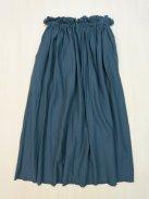 ゴーシュ オーガニックコットンツイル ギャザースカート(グレイッシュブルー)
