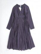 YAECA ラップギャザードレス(ログウッド)【ウィメンズ】