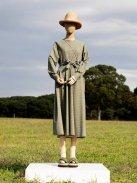 Scye ウールチェック ベルトドレス(パインフォレスト)【ウィメンズ】