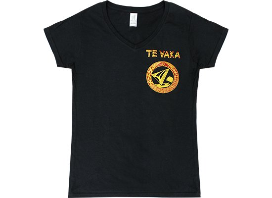レディースTシャツ−Te Vaka テ・ヴァカ Vネック 4.5oz  【2枚までメール便可】