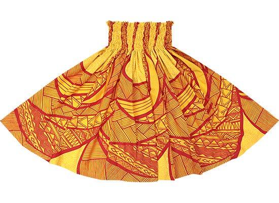 黄色のパウスカート トライバル・カヒコ柄 sprm-2568YW 75cm 4本ゴム【既製品】【NPS】【既製品】