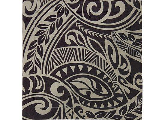 黒のパレ キルト イプヘケマット タパ・リーフ柄 pale-quilt1702_2243GRBK