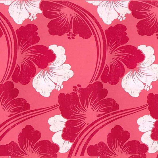 ピンクのハワイアンファブリック ハイビスカス大柄 fab-2601Pi 【4yまでメール便可】【NPS】