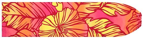 赤と黄色のパウスカートケース ハイビスカス・グラデーション柄 pcase-2608RDYW 【メール便可】★既製品
