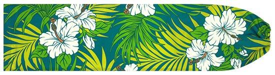 ヒスイ色のパウスカートケース ハイビスカス・ヤシ柄 pcase-2618JD 【メール便可】★オーダーメイド