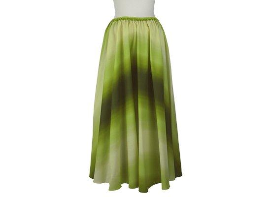 サーキュラースカート きみどりと緑の グラデーション柄 33007-2270LGGN